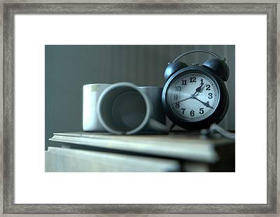 Bedside Table Insomnia Scene Framed Print by Allan Swart
