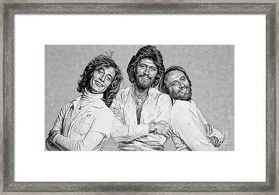 Bee Gees Collection Framed Print by Marvin Blaine