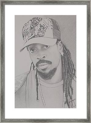 Beenie Man Framed Print by Jeffrey Samuels