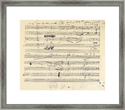 Beethoven Manuscript, 1826 Framed Print by Granger
