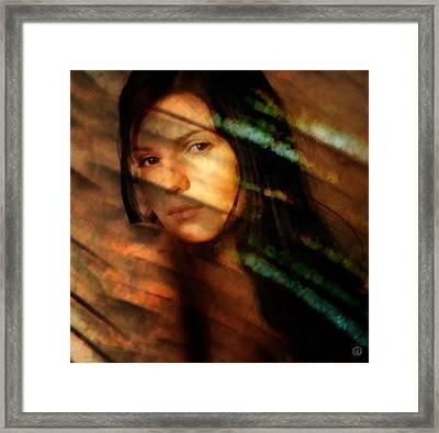 Framed Print featuring the digital art Behind The Curtain by Gun Legler