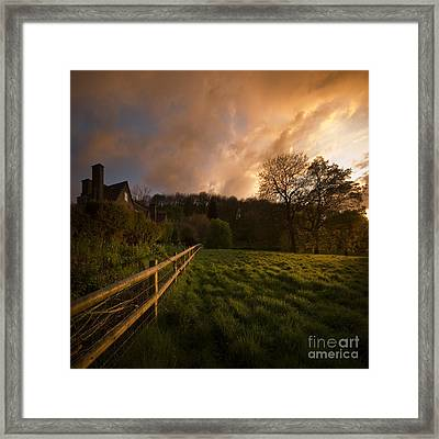 Behind The Fence Framed Print by Angel Ciesniarska
