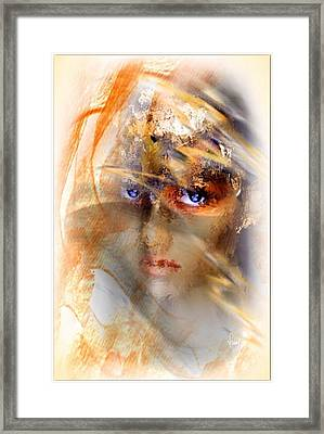 Behind The Veil Framed Print by Freddy Kirsheh