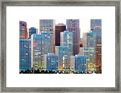 Beijing Central Business District Framed Print by Fototrav Print