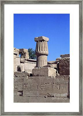 Belief In The Hereafter - Luxor Karnak Temple Framed Print