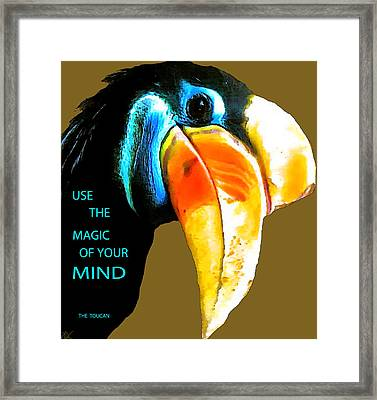 Believe Toucan Framed Print by Debra     Vatalaro