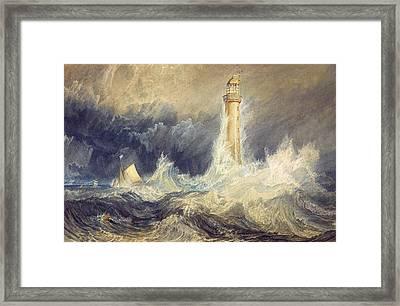 Bell Rock Lighthouse Framed Print by JMW Turner
