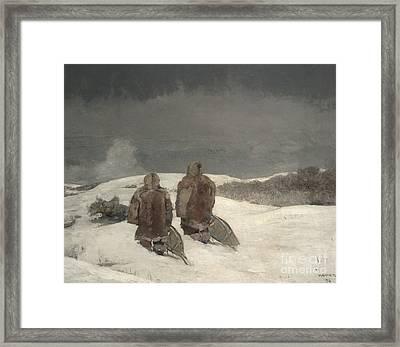 Below Zero, 1894 Framed Print by Winslow Homer