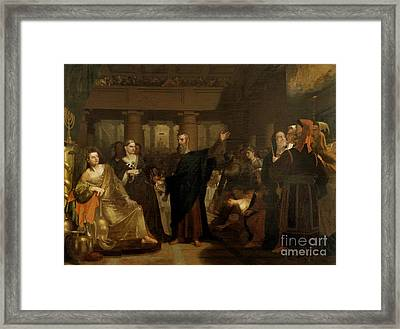 Belshazzar's Feast Framed Print by Washington Allston
