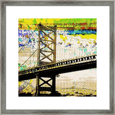 Ben Franklin Bridge Philadelphia Framed Print