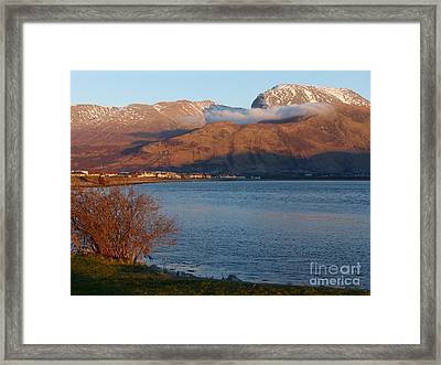 Ben Nevis From Corpach Framed Print by Phil Banks