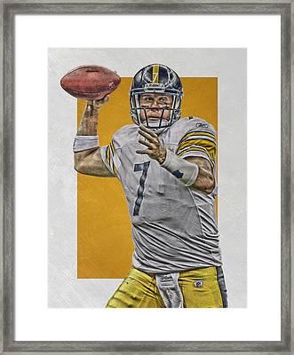 Ben Roethlisberger Pittsburgh Steelers Art Framed Print by Joe Hamilton