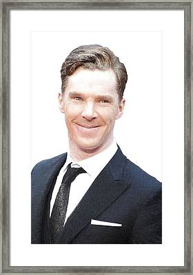 Benedict Cumberbatch Portrait Framed Print by Best Actors