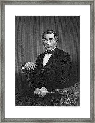 Benito Pablo Juarez Framed Print by Granger
