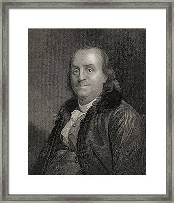 Benjamin Franklin, 1706 To 1790 Framed Print