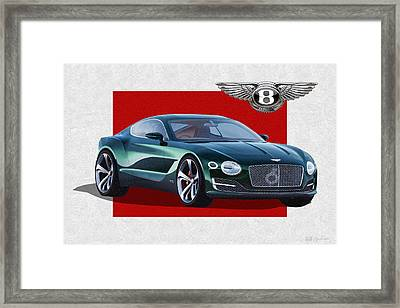 Bentley E X P  10 Speed 6 With  3 D  Badge  Framed Print