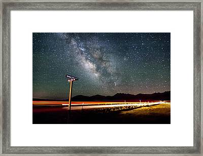 Benton Crossing And Owens River Rd. Framed Print