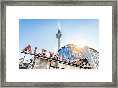 Berlin Alexanderplatz Framed Print by JR Photography