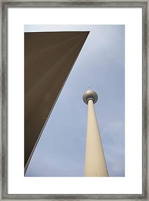 Berlin Tv Tower Framed Print