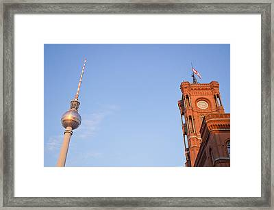 Berlin Tv Tower Framed Print by Tom Gowanlock