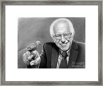 Bernie Sanders Framed Print by Murphy Elliott