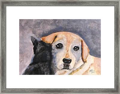 Best Friends Framed Print by Angela Davies