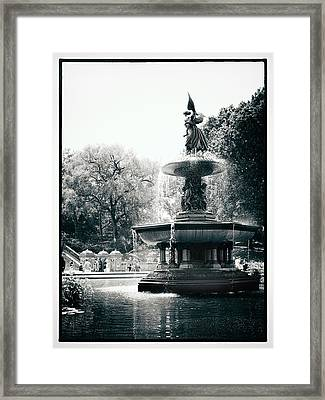Bethesda Fountain Framed Print by Jessica Jenney