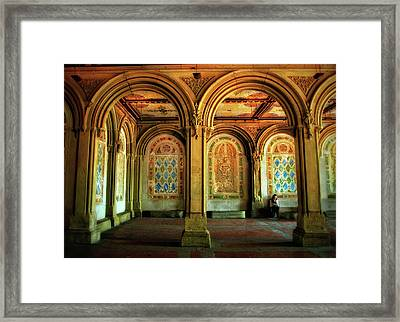 Framed Print featuring the photograph Bethesda Terrace Arcade by Jessica Jenney