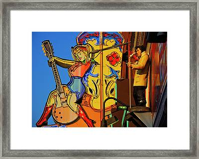 Betty Boots Framed Print by Skip Hunt