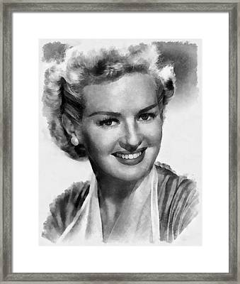 Betty Grable Hollywood Icon By John Springfield Framed Print by John Springfield