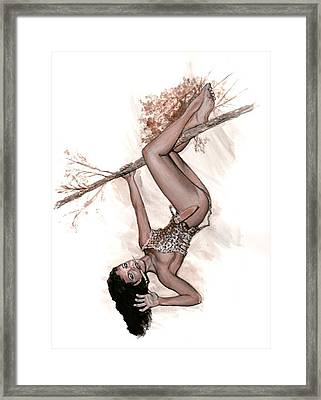 Betty Jungle Girl Framed Print by Will Brown