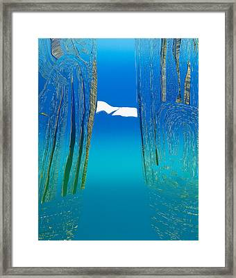 Between Two Mountains. Framed Print by Jarle Rosseland