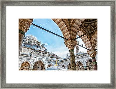 Beyazit Camii Mosque Framed Print by Antony McAulay