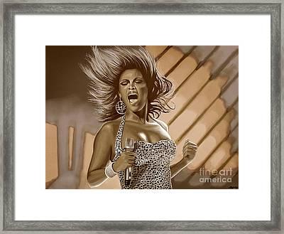 Beyonce Framed Print by Meijering Manupix