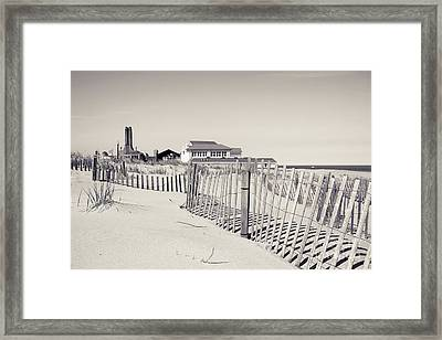Framed Print featuring the photograph Beyond The Dunes by Colleen Kammerer