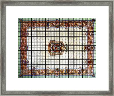 Bibatauin Palace Roof In Granada Spain Framed Print by