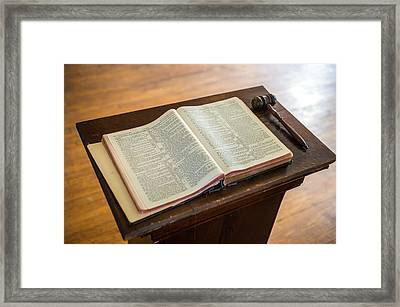 Bible And Gavel Framed Print