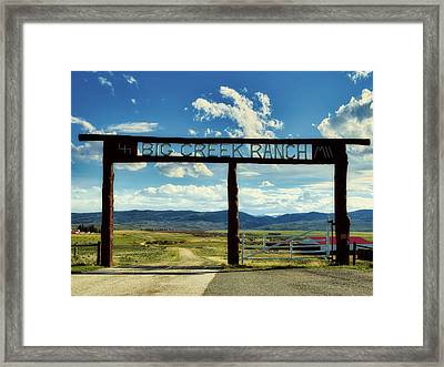 Big Creek Ranch Framed Print by L O C