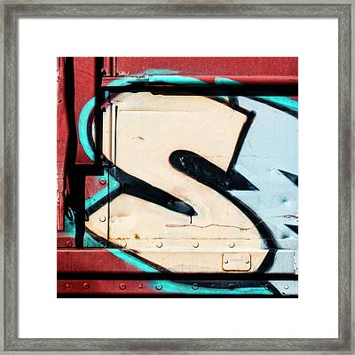 Big Graffiti Letter S Framed Print