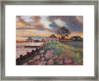 Framed Print featuring the painting Big Lake by AnnE Dentler