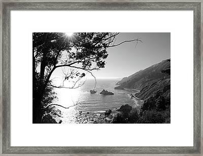 Big Sur Black And White Framed Print by Sierra Vance