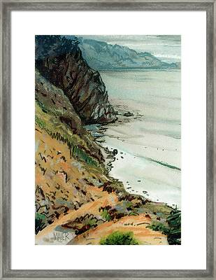 Big Sur California Framed Print by Donald Maier