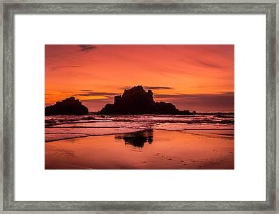 Big Sur Sunset Framed Print