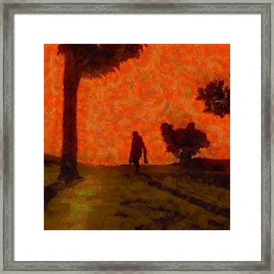 Bigfoot Alone Framed Print
