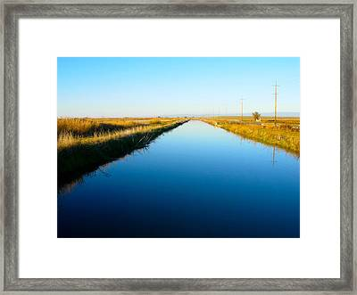 Biggs Canal Framed Print by Suzanne Lorenz
