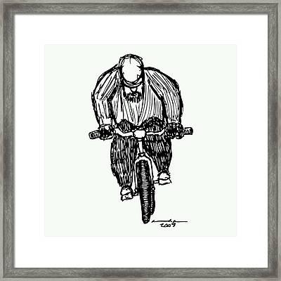 Biking Man Framed Print by Karl Addison