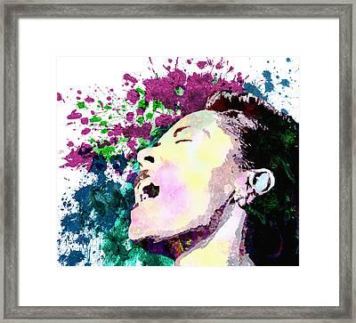 Billie Holiday Framed Print by Elena Kosvincheva