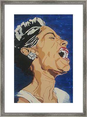 Framed Print featuring the painting Billie Holiday by Rachel Natalie Rawlins