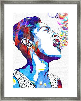 Billie Holiday Framed Print by Vel Verrept