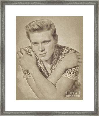 Billy Fury, Singer Framed Print